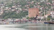 Stock Video Footage of Alanya port view 3
