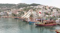 Stock Video Footage of Alanya harbor
