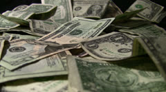 Money with Moving Spot Light. HD Stock Footage