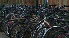 Bike Storage Stock Footage