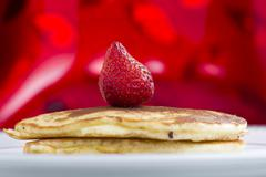 Stock Photo of pancakes with strawberry