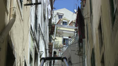 Alley in Lisbon Stock Footage