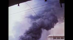 Vietnam War Saigon - Burning Petrol Station 04 Stock Footage