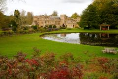 Tourist attraction Dorset England Forde Abbey listed building - stock photo