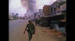 Vietnam War Saigon - Smoke trail 01 Stock Footage