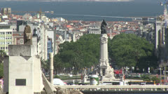 Overview of Lisbon, Portugal Stock Footage