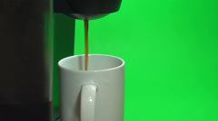 Making Coffee Fast Stock Footage