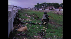 Vietnam War Saigon - Wounded ARVN transportation 01 Stock Footage