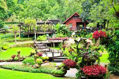 mae fah luang garden,locate on doi tung,thailand - stock photo