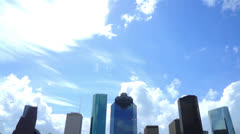 Houston Skyline Tilt Down Stock Footage