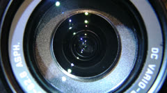 Lens movement. Zooming in and out with 28 mm wide-angle lens. Stock Footage