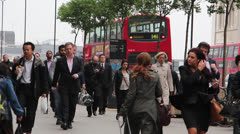 People on the streets of london Stock Footage