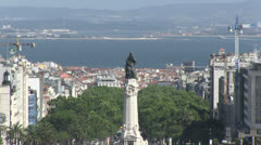 Overview of Lisbon, Portugal - stock footage