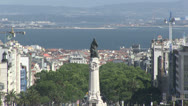 Stock Video Footage of Overview of Lisbon, Portugal