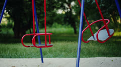 Empty Swing Swaying Stock Footage