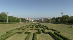 Parque Eduardo VII in Lisbon, Portugal Stock Footage