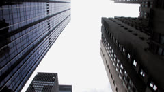 Nyc skyscrapers skyline Stock Footage