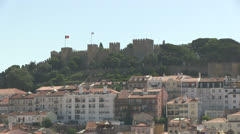 The Castle of São Jorge in Lisbon Stock Footage