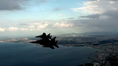F-15 Eagle fighter jets in flight - stock footage