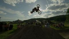 Ultra High Definition 4K - Extreme Sport - Backflip Stock Footage
