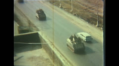 Vietnam War - Tet Offensive - Convoy To Front 02 - stock footage