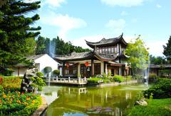 china buddhist temple - stock photo