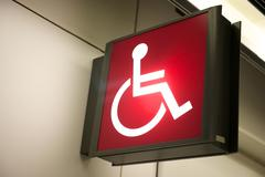 Red handicap sign Stock Photos