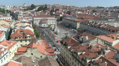 Rossio Square in Lisbon - stock footage