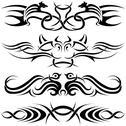 Tribal Tattoos Stock Illustration