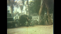 Vietnam War - Tet Offensive - Vietcongs Greifen An 02 Stock Footage