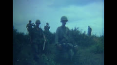 Vietnam War - US Solderies Marching 01 Stock Footage