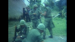 Vietnam War - US Soldiers Searching Vietcong Bags 01 Stock Footage