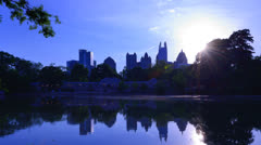 Piedmont Park in Atlanta Stock Footage
