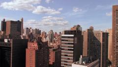 Aerial view of city skyline nyc Stock Footage