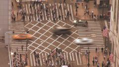 Stock Video Footage of transit traffic cars transportation people crowded population nyc