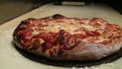 Tasty pizza out of the oven, HD Stock Footage