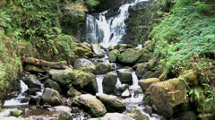 Scenic waterfall in killarney national park, ireland Stock Footage