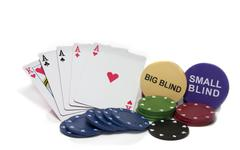 Four aces for poker Stock Photos