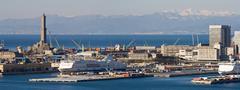 port of genova - stock photo