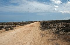 Dry land on gozo Stock Photos