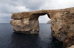 Stock Photo of azure rock on gozo