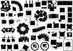 Instant Photos Set - stock illustration
