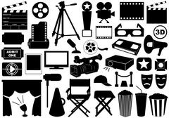 Movie Related Elements Stock Illustration