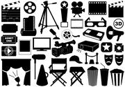 Stock Illustration of Movie Related Elements