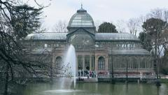 Spain - Madrid, Parque del Retiro - Crystal House - 13 Stock Footage