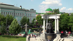 Monument to Emperor Alexander II. Moscow, Russia. Stock Footage