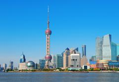 Shanghai architecture Stock Photos