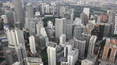 City scape of densely populated area of Kuala lumpur Stock Footage