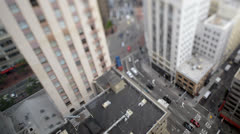 Time Lapse Tilt Shift of Traffic In Downtown San Francisco Stock Footage