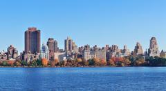 Central park panorama Stock Photos